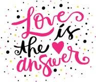 O amor é a resposta ilustração do vetor