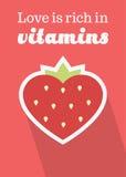 O amor é rico nas vitaminas Imagem de Stock