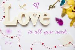 O amor é tudo que você precisa o molde fotografia de stock royalty free