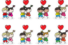 O amor abraça a amizade Foto de Stock