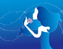O amor abstrato das mulheres floresce a ilustração   ilustração do vetor