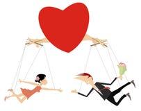O amor acopla a ilustração do conceito isolada ilustração stock