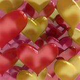 O amor balloons o coração dado forma Imagem de Stock