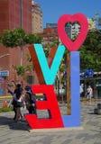 O amor colorido assina dentro Kaohsiung Fotografia de Stock
