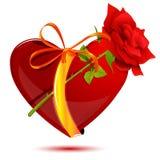 O amor com levantou-se ilustração royalty free