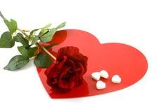 O amor com levantou-se Imagem de Stock Royalty Free
