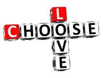 o amor 3D escolhe palavras cruzadas Imagens de Stock