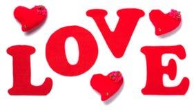 O amor da palavra Foto de Stock Royalty Free