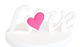 O amor da palavra em um suporte Imagens de Stock
