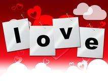 O amor do coração representa Valentine Day And Compassionate Imagens de Stock Royalty Free