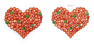O amor é doce e vermelho Fotografia de Stock Royalty Free