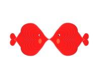 O amor dos peixes (iii): Beijo de dois peixes Imagens de Stock Royalty Free