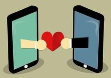 O amor envia em linha Foto de Stock Royalty Free