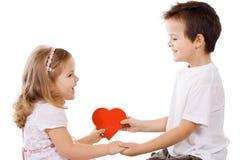 O amor está compartilhando Imagens de Stock Royalty Free