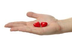 O amor está em minha mão Fotografia de Stock Royalty Free