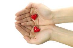 O amor está em minhas mãos Imagens de Stock Royalty Free