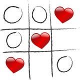 O amor está ganhando o jogo Foto de Stock Royalty Free