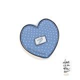 O amor está no ar Imagem de Stock