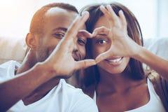O amor está no ar! imagens de stock