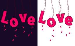 O amor está no conceito do ar Foto de Stock Royalty Free