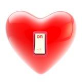 O amor está no tumbler do interruptor isolado no branco ilustração royalty free