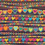 O amor horizontal conecta a linha teste padrão sem emenda do estilo Fotos de Stock