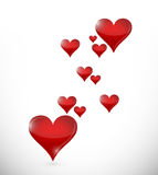 O amor ouve o voo. projeto da ilustração Imagem de Stock Royalty Free