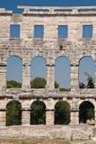 O amphitheatre fotografia de stock
