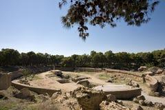 O amphitheatre de Carthage fotografia de stock