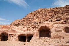 O anúncio-Deir do monastério, PETRA antigo da cidade de Nabataean, Jordânia Templo antigo em PETRA Imagens de Stock