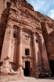 O anúncio-Deir do monastério, PETRA antigo da cidade de Nabataean, Jordânia Templo antigo em PETRA Fotos de Stock