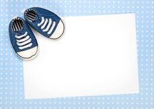 O anúncio novo do bebê ou convida Imagens de Stock Royalty Free