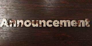 O anúncio - título de madeira sujo no bordo - 3D rendeu a imagem conservada em estoque livre dos direitos Fotografia de Stock Royalty Free