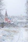 O anel dourado de Rússia Oblast Tutaev de Yaroslavl Igreja de Kazan da transfiguração Foto de Stock Royalty Free