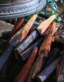 O anel ou chime os sinos no templo com varas de madeira A Bell simboliza a sabedoria e a piedade, que recogn budista dos médicos fotos de stock royalty free