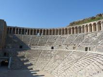 O anfiteatro de Aspendos, Anatolia Fotografia de Stock Royalty Free