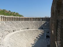 O anfiteatro de Aspendos, Anatolia Imagem de Stock