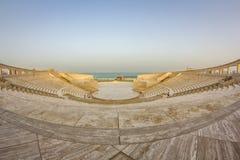 O anfiteatro na vila cultural de Katara, Doha Catar imagens de stock