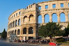 O anfiteatro nos Pula, Croácia imagem de stock