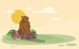 O animal do dia de Groundhog acorda o feriado da mola Fotografia de Stock Royalty Free