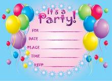 O aniversário convida o cartão Foto de Stock Royalty Free