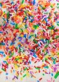 O aniversário do açúcar polvilha imagens de stock