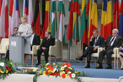 20o aniversário do colapso do comunismo na Europa Central Fotos de Stock