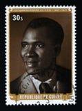30o aniversário do partido Democrática da Guiné, serie, cerca de 1977 Imagens de Stock Royalty Free