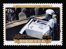 30o aniversário do partido Democrática da Guiné, serie, cerca de 1977 Imagens de Stock