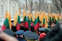 100o aniversario de la restauración del statehood lituano Foto de archivo libre de regalías