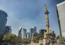 O anjo da independência em Cidade do México imagens de stock