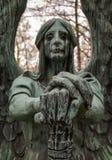O anjo da morte vitorioso Fotos de Stock Royalty Free