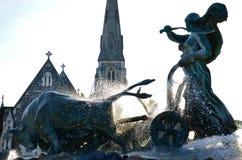 O anjo de Copenhaga fotografia de stock royalty free