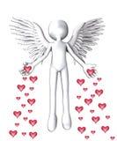 O anjo do amor ilustração do vetor